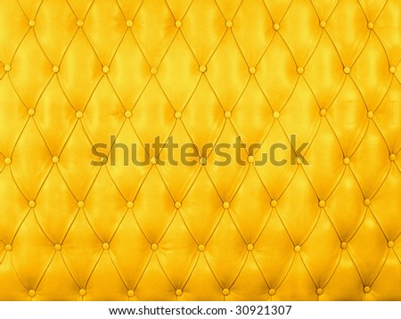 Yellow picture of genuine leather upholstery