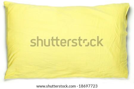 yellow pillow - stock photo