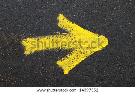 yellow pointer - stock photo