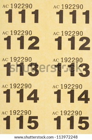 yellow raffle tickets background abstract - stock photo