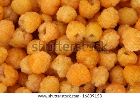 Yellow raspberry background