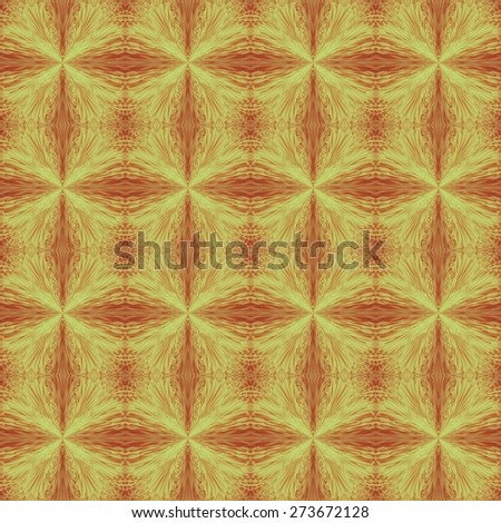 Yellow red natural ornament abstract background pattern - stock photo