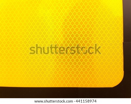 Yellow  reflector  and  background  texture - stock photo