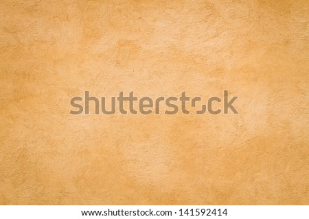 Yellow Roman wall texture background, Rome Italy - stock photo