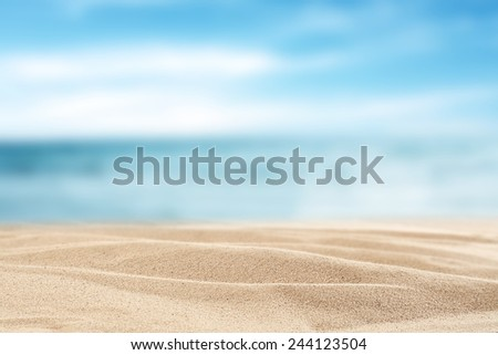 yellow sand background and decoration  of sea sky and sun  - stock photo