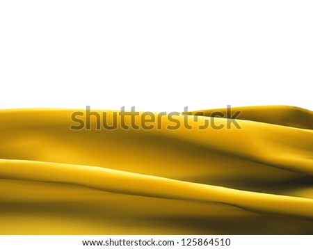Yellow satin clothes