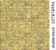 Yellow sidewalk blocks background - stock photo