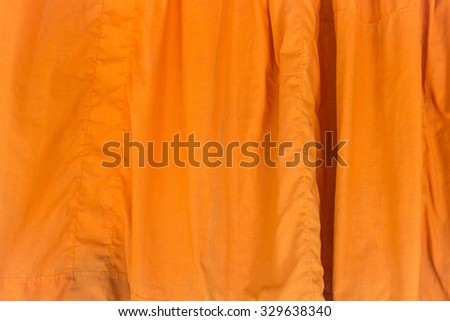 yellow silk fabric background  elegant and delicate - stock photo