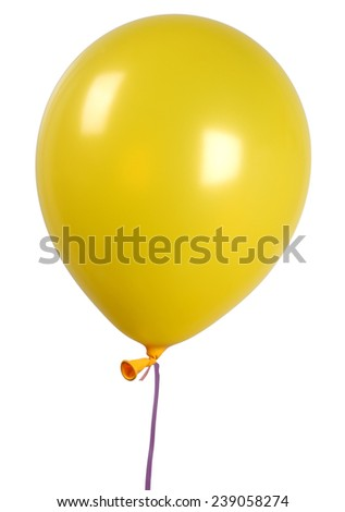 Yellow Single balloon - stock photo