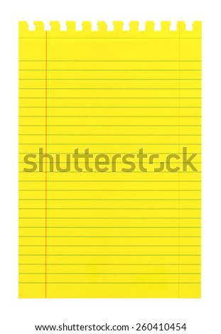 Yellow small notebook paper - stock photo