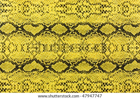 yellow snake leather background