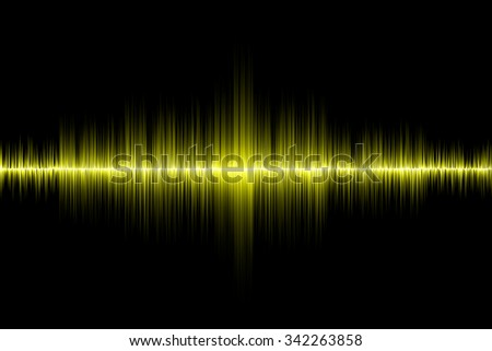 yellow sound wave background