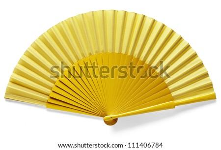 yellow spanish fan - stock photo