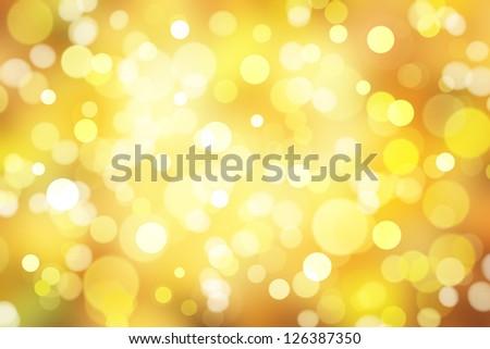 yellow sparkle light - stock photo