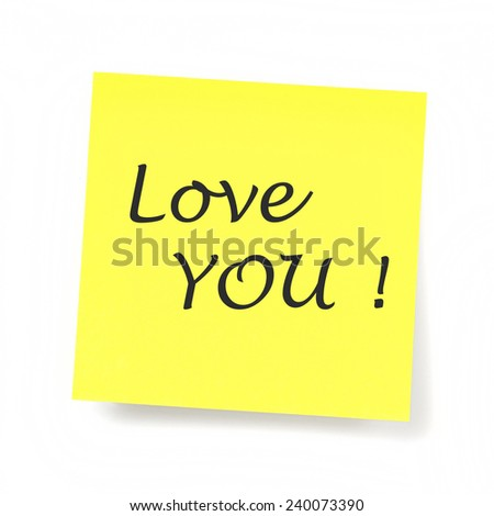 Yellow Sticky Note - Love you