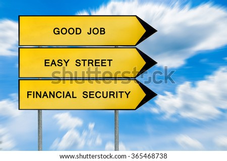 Yellow street concept finance sign - stock photo