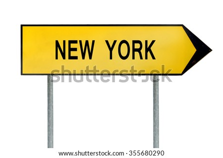 Yellow street concept sign New York isolated on white
