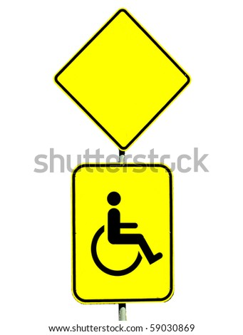 yellow street sign - stock photo
