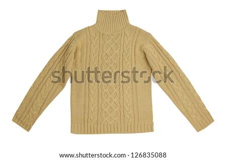 yellow sweater - stock photo