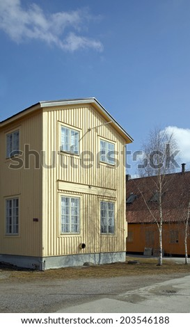 Yellow swedish house