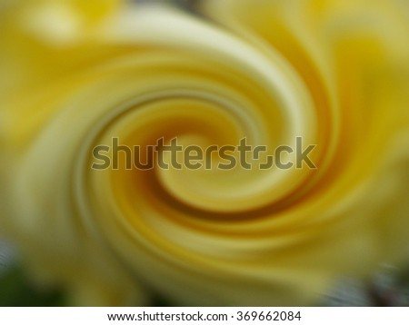 Yellow swirl - abstract art - stock photo