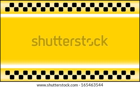 yellow taxi cab background with place for text - stock photo
