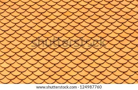 Yellow Tile Pattern, Oriental Style, Seamless Background - stock photo