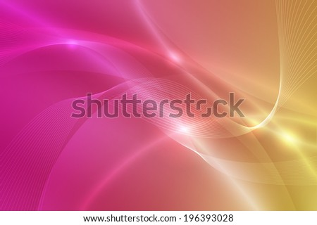 yellow to pink color background with swirl  line - stock photo