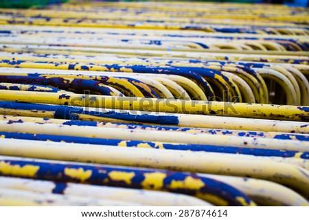 Yellow Traffic Barrier - stock photo