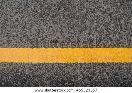 Yellow traffic line