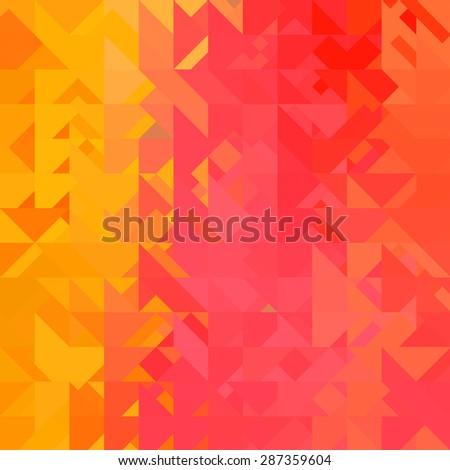 yellow triangle background - stock photo