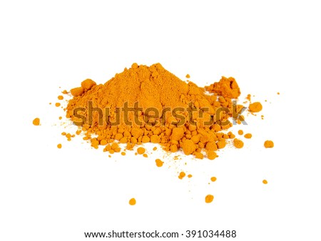 Yellow Turmeric isolated on white background.