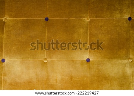 yellow velvet with buttons, background