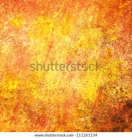 Yellow wall with cracks and peeling paint in grunge