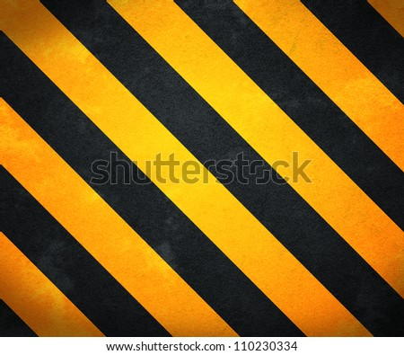 Yellow Warning Stripes Background - stock photo