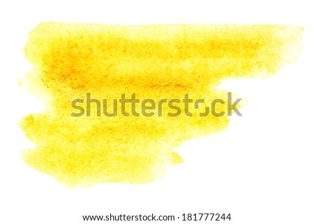 Yellow watercolor brush strokes - space for your own text