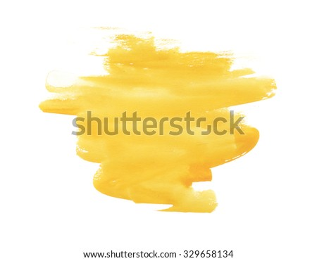 Yellow watercolor image. watercolor background