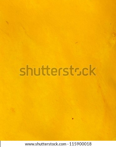 Yellow watercolor texture - stock photo