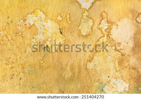 Yellow Watercolor Textures 3 - stock photo