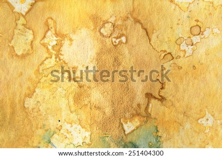 Yellow Watercolor Textures 2 - stock photo