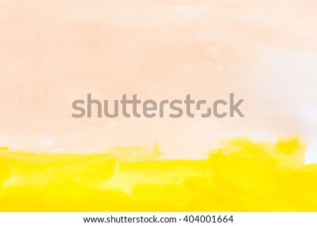 yellow watercolors on paper texture - hand painted design element - abstract background - stock photo