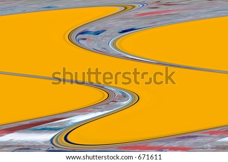 Yellow waves - stock photo