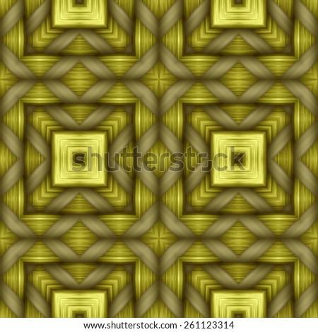 yellow weaving wood  texture  ornament pattern - stock photo