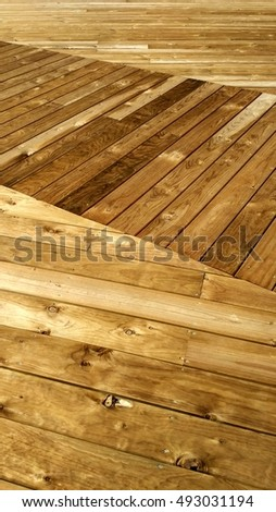Yellow wood deck