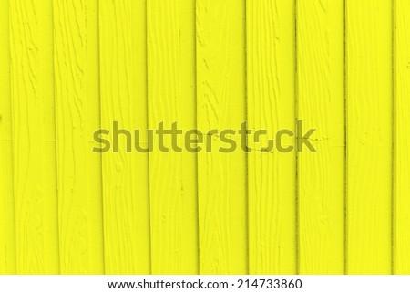 Yellow wood wall background - stock photo