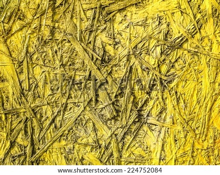 Yellow wooden surface with texture - stock photo