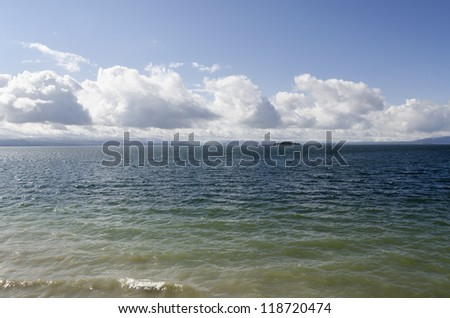 Yellowstone Lake in Yellowstone National Park in Wyoming in the United States of America