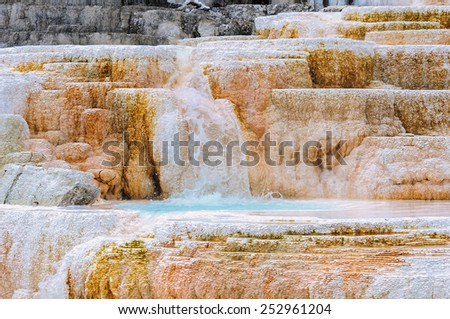 Yellowstone, Mammoth Hot Springs, Wyoming, USA - stock photo