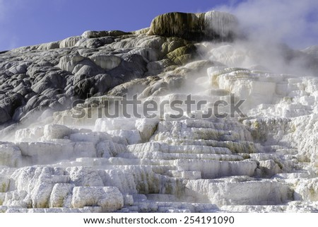 Yellowstone National Park Devil's Thumb Geothermic Geyser - stock photo
