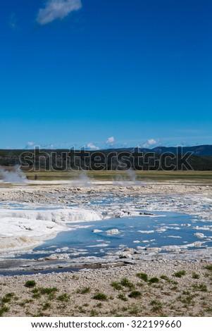 Yellowstone National Park Geyser - stock photo